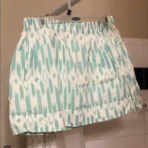 Patterned J Crew Skirt